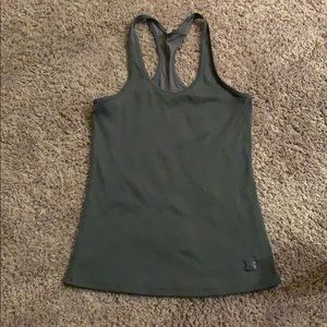 UNDER ARMOUR GRAY TANK TOP FITTED